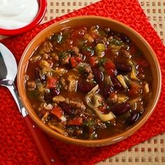 Kalyn's Kitchen®: Slow Cooker Recipe for Spicy Ground Beef and Bean Soup with Cabbage and Spinach