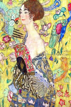 Lady with Fan (by Gustav Klimt)