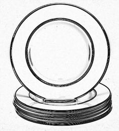 dinner plate drawing - Google Search