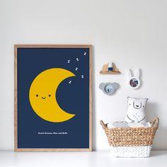 Buddy and Bear – Playful design for the modern family Nursery Prints, Nursery Decor, Bear Nursery, Bear Face, Moon Print, Bear Print, Baby First Birthday, Kids Prints, All Print
