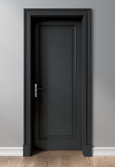Interior Door Styles, Black Interior Doors, Door Design Interior, Diy Modern Interior Door, Wooden Interior Doors, Modern Wooden Doors, Interior Trim, Bedroom Door Design, Home Room Design