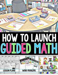 Are you having trouble figuring out how to Launch Guided Math in your classroom? If so, look NO FURTHER! This FREE RESOURCE will give you Step-by-Step instructions on How to Implement Guided Math in your Grade Classroom! by liza Maths Guidés, Teaching Math, Math Fractions, Math Math, Teaching Time, Multiplication Strategies, Teaching Ideas, Teaching Spanish, 2nd Grade Classroom