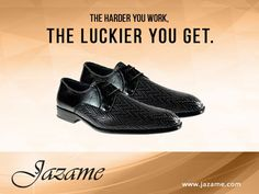 The harder you work, the luckier you get. If you want to get your man the latest in #dressshoes, go to https://jazame.com/.