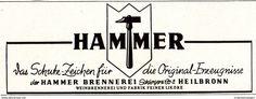 Original-Werbung/ Anzeige 1942 - HAMMER BRENNEREI - HEILBRONN - ca. 90 x 35 mm