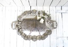 Vintage Silverplate Footed Platter Large Ornate Handled by Swede13
