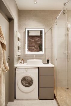 wayfair bathroom is definitely important for your home. Whether you choose the small bathroom storage ideas or upstairs bathroom remodel, you will create the best dyi bathroom remodel for your own life. Laundry In Bathroom, House Bathroom, Bathroom Interior Design, Bathroom Decor Luxury, Home Remodeling, Small Bathroom, Modern Bathroom, Bathroom Renovations, Bathroom Renovation