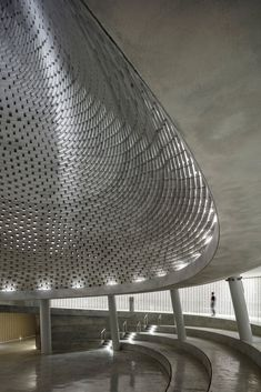 Mount Herzl Memorial Hall, Mount Herzl National Military Cemetery, Jerusalem, Israel, by Kimmel Eshkolot Architects Acoustic Architecture, Brick Architecture, Religious Architecture, Interior Architecture, Interior Design, Brick Laying, Beautiful Space, Contemporary Design, Memories