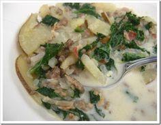 Zuppa Toscana - like the Olive Garden sausage, potato soup.