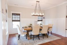 Lovely neutral dining room, Pottery Barn - Bill Clark Homes - New Home Builder and Real Estate Developer