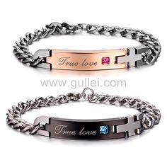 Engravable Matching Couples Friendship Bracelets Valentines Gift