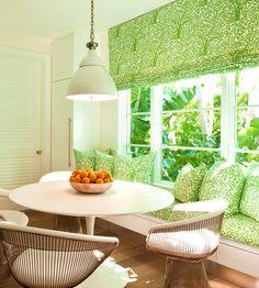 So many classics: Arbre De Matisse, Platner Chairs, Saarinen Tulip Table design by Lourdes Gutierrrez