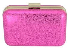 Bolsa Clutch Rosa Pink. Bolsa de mão ideal para compor look de balada e festas.