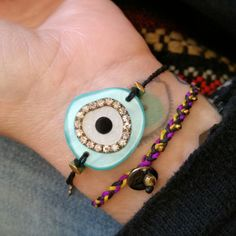 Combo of the day! Greece Holiday, Eye Painting, Beaded Bracelets, Jewellery, Trending Outfits, Unique Jewelry, Handmade Gifts, Etsy, Vintage