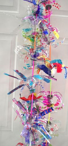 """Art with Kids: Recycled """"Flower"""" Water Bottles"""