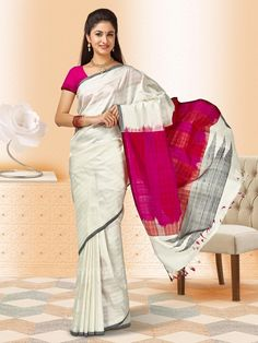 bb20a8f9cf47cf Resham Weaved Pure Silk Saree  rajwadi  silksaree  saree  sareeswag   FeelRoyal