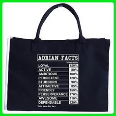Qualities Of Adrian Adrian Facts A Super Cool Gift - Tote Bag - Totes (*Amazon Partner-Link)