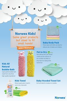"""Pet to Dry: Kids will love the cute animal motifs and the softness of  the chenille microfiber. You will love the antibacterial properties of our exclusive BacLock™. Rope hanger makes it easy to keep handy; kids dry their hands on the pet to dry microfiber. Great for on-the-go too— hang on the stroller handle and keep one handy in the car. Not to be used as a toy. Size: 11cm x 35cm / 4.3"""" x 13.8"""" Pink pig and Yellow tiger"""