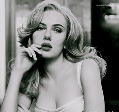 Scarlett. Love her in this black and white photo.