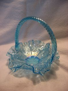 *FENTON ART GLASS ~  Basket