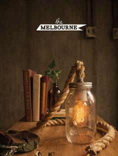 Bocal à conserves guirlande lumineuse Lampe Lampe Bureau lampe Edison lampe de Table