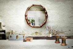 HAIKU | Modern Wall Bamboo Mirror by BRABBU