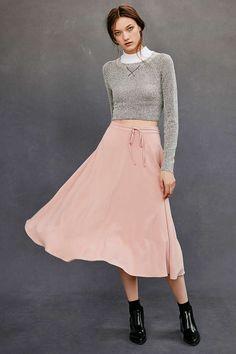 Kimchi Blue Full Midi Skirt - Urban Outfitters
