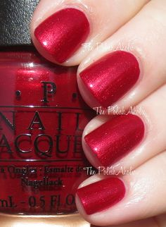 """""""In My Santa Suit"""" OPI Holiday 2013 Mariah Carey Holiday Collection Swatches December"""