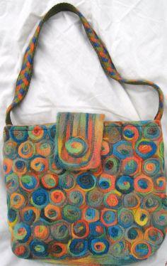 multi rose circles bag