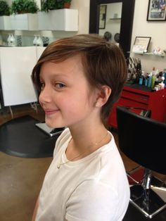 Cool pixie cut for a tween.