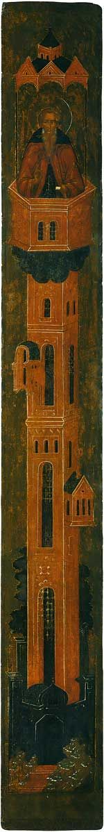 St Daniel Stylite From the Deesis Range School or cultural centre: Moscow century 211 × 26 cm Annunciation Cathedral of the Moscow Kremlin, Moscow, Russia St Daniel, Moscow Kremlin, Moscow Russia, Christian Art, Illuminated Manuscript, Byzantine, 16th Century, Painters, Saints