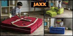 Jaxx Bean Bags ~ Jaxx Bean Bags ~ Kids Zipline Modular Loveseat w/Ottomans
