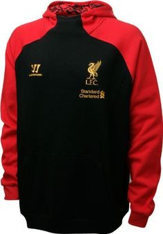 Liverpool Black Hoody 2012/13 by Warrior. $89.75. This is the official Liverpool Black Hoody for the 2012/13 Premier League season. The hoody will be worn by the team during routine training sessions and on match days. It has been constructed from a mixture of 80% cotton and 20% polyester and has a long sleeve design. The new hoody has been designed and made by Warrior and features am embroidered Warrior logo on the upper chest next to the retro style LFC Liverpool cr...