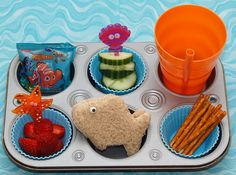 awesome! children can enjoy their meal. using muffin tins.