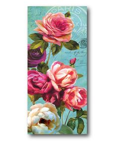 Another great find on #zulily! Pink Roses I Wrapped Canvas #zulilyfinds