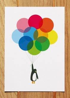 Mr Penguin Postcard