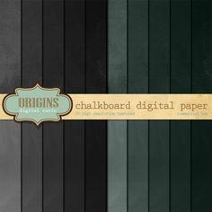 20 Chalkboard Texture Digital Papers by Origins Digital Curio on Creative Market