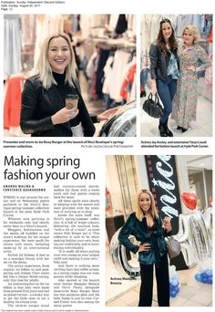 Thank you & for the fab feature on the launch! Summer Collection, Roxy, Amanda, Spring Fashion, Product Launch, Boutique, Fashion Spring, Spring Couture