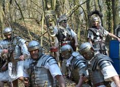 I once taught re-inactors how to fight like Romans; that said, this isn't a bunch I'd like to run into in a dark alley... They all look a tad bit cheesed off (probably those damned Iceni again...)
