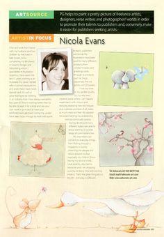 Nicola Evans in Focus Magazine.