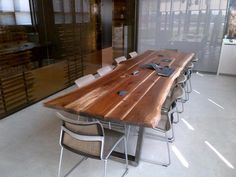 live edge conference table - Google Search