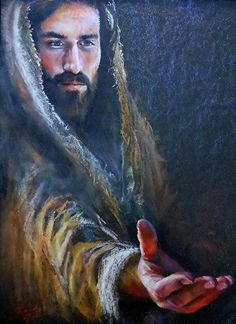 Will you hold Jesus Christ's Hand? Thank you, dear Lord, Jesus Christ. Who is my God, my Lord, my Savior! Pictures Of Jesus Christ, Religious Pictures, Religious Art, Jesus Our Savior, Jesus Is Lord, Jesus Painting, Saint Esprit, Jesus Christus, Jesus Face