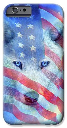 Wolf Moon Flag phone case featuring the Patriotic art of Carol Cavalaris. Art Phone Cases, Wolf Moon, Bath Towels, Flag, Iphone, Prints, Painting, Fictional Characters, Painting Art