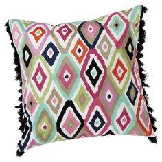 Ikat Diamond Pillow Cover