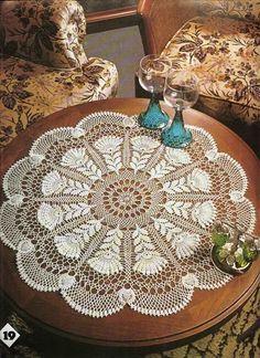 crochet pattern, magnificent doily, doyley
