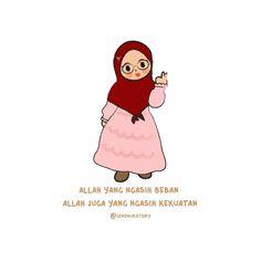 Quotes Lucu, Cinta Quotes, Quotes Galau, Self Quotes, Mood Quotes, Muslim Quotes, Hijab Quotes, I Love You Mama, Islamic Cartoon