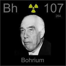 Bohrium is a chemical element with symbol Bh and atomic number 107. It is named after Danish physicist Niels Bohr. It is a synthetic element (an element that can be created in a laboratory but is not found in nature) and radioactive; the most stable known isotope, 270Bh, has a half-life of approximately 61 seconds.
