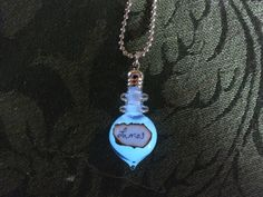 Harry Potter Lumos Glow In The Dark Glass Bottle Necklace. $15.00, via Etsy.    **Another cool craft idea!