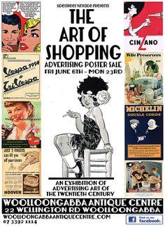 Welcome - Woollongabba Antique Centre, Brisbane, Australia Sale Poster, Advertising Poster, Brisbane, Vintage Shops, Centre, Antiques, Antiquities, Antique, Vintage Stores