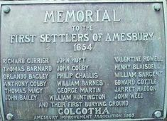 thomas macy nantucket | MEMORIAL to the First Settlers of Amesbury - 1654