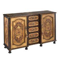 Alexander Sideboard PW-383-SCR-BROWN-OCHRE. h1Alexander Sideboard PW-383-SCR-BROWN-OCHRE_h1This elegant Alexander Sideboard PW-383-SCR-BROWN-OCHRE features two doors, five drawers, keys and tassels. It has a scroll design in brown and ochre.. See More Sideboards at http://www.ourgreatshop.com/Sideboards-C669.aspx